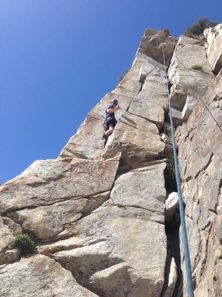 Rock Climbing Photo: C. Reynolds on Little Boy.