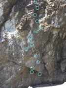 Rock Climbing Photo: The money line