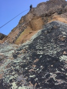 Rock Climbing Photo: The start of the 5.11 pitch, Jessica Goff rappelli...