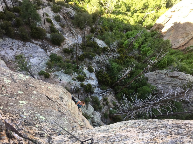 Jessica Goff nearing halfway up the second pitch