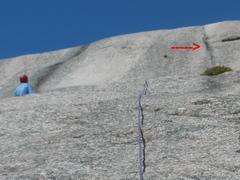 "Rock Climbing Photo: RW belays 15-20 Left of the ""headwall pockets..."