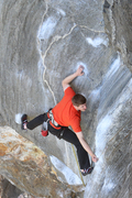 Rock Climbing Photo: Alec just past the crux start and getting in to th...