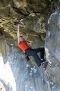 Rock Climbing Photo: Alec hangs on a little bit longer... almost done