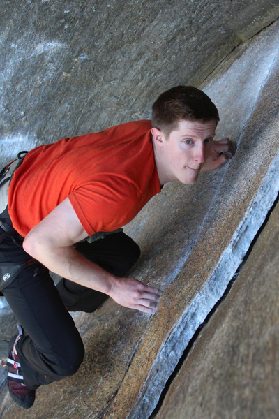 Rock Climbing Photo: Alec focused on the mission