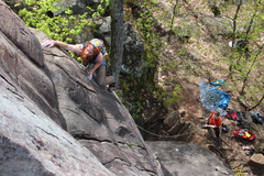 Rock Climbing Photo: Matt Kahl getting to the first rest stop