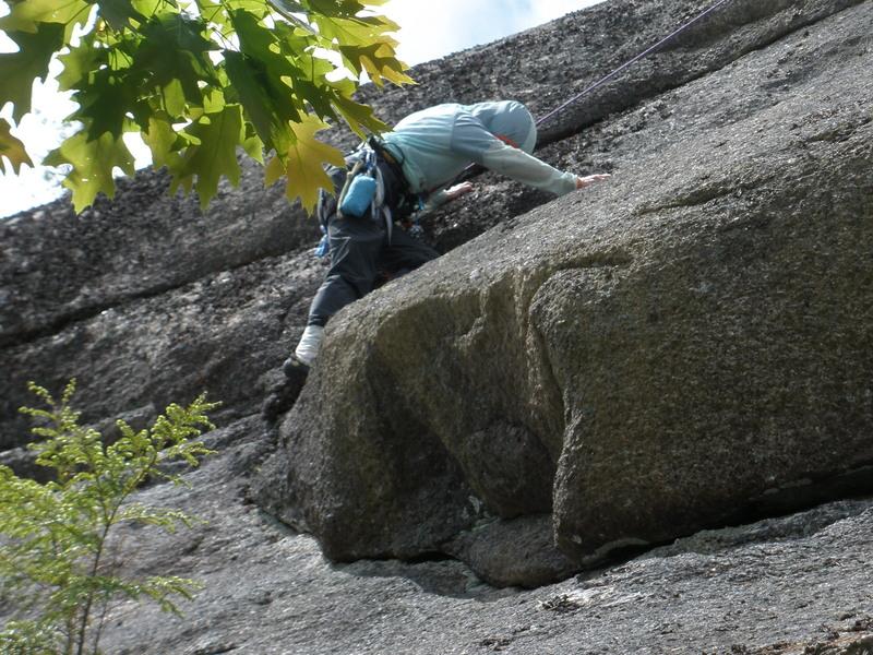 "Rock Climbing Photo: S Matz in the corner of ""Student Daze"""