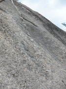 """Rock Climbing Photo: Close Up of """"Right Hand Dike"""" as viewed ..."""