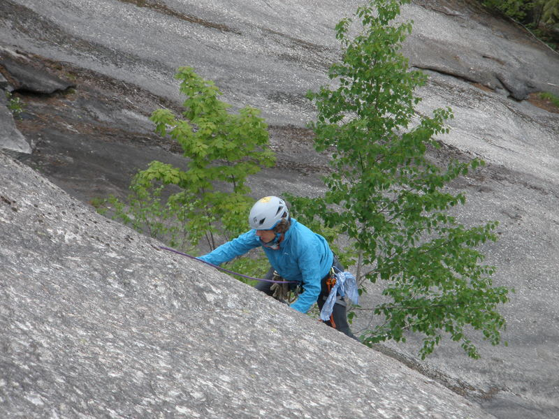 Rock Climbing Photo: S Matz concentrating on moves near the crux of The...