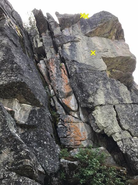 Croc Rock West crag North face.