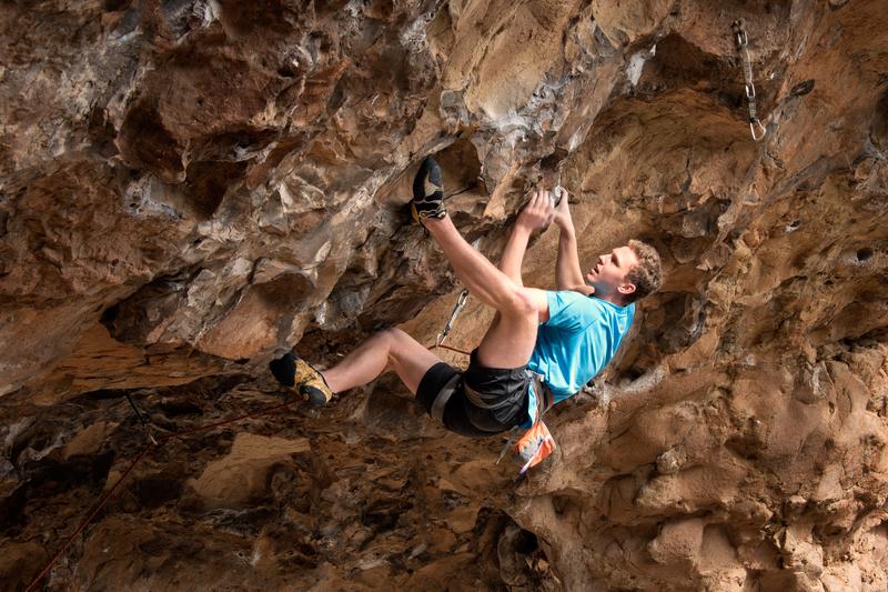 Rock Climbing Photo: Josh crushing Crash and Burn