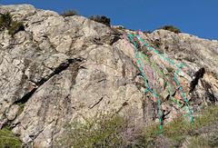 Rock Climbing Photo: Giétroz sector 3 H. Left-facing Corner Crack J....