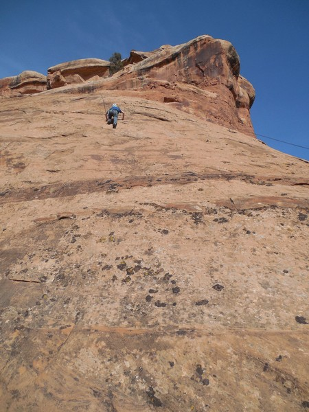 Rock Climbing Photo: High on Refuse to Feel