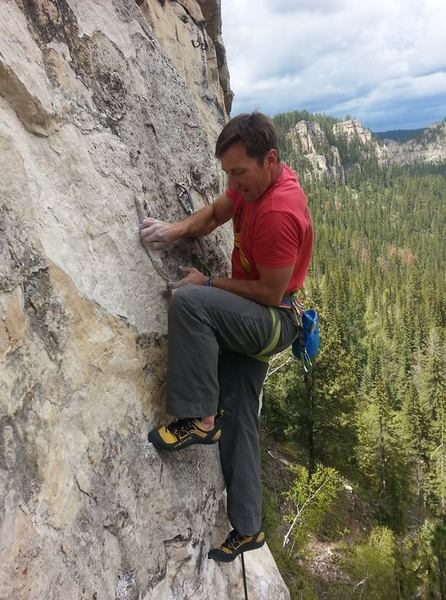Rock Climbing Photo: Carl climbing Chalk-A-Lot.
