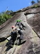 Rock Climbing Photo: Starting up Pitch 2.