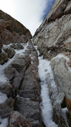 "Rock Climbing Photo: Looking at up into the crux of maybe ""the rib..."
