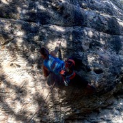 Rock Climbing Photo: First clip. One of my favorite LS routes.