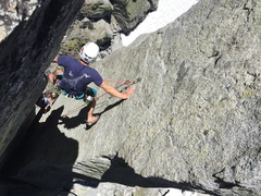 Rock Climbing Photo: High in the chimney