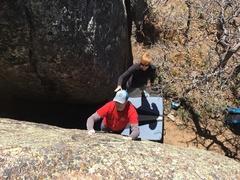 Rock Climbing Photo: Brad on Route 19.