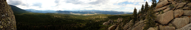 Rock Climbing Photo: Panorama from the top. Walking off to climber's le...