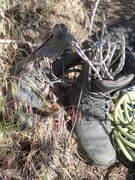 Rock Climbing Photo: McLoughlin Canyon footwear (snake proof)