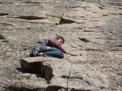 Rock Climbing Photo: Classic Okanogan climbing moment.... a little  tou...
