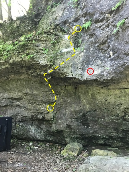 Rock Climbing Photo: The photo shows the bottom and roof section to the...