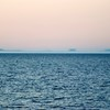 Fata Morgana, aka Superior mirage, of Keweenaw peninsula, from the Mouth of the Huron river 30 miles away.