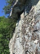 Rock Climbing Photo: Looking at the larger roof from the rappel. Two 60...