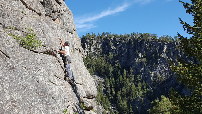 Rock Climbing Photo: Pat, the maker of the route, years later on it, on...