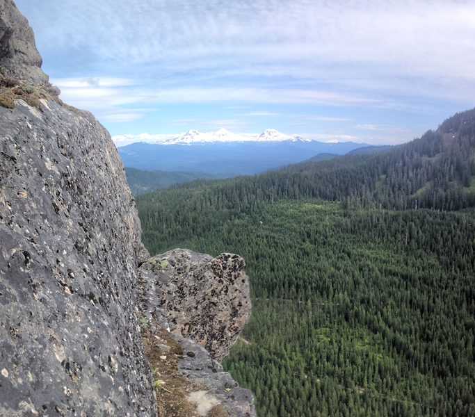 Amazing view from 2nd to last belay ledge