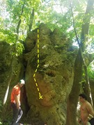Rock Climbing Photo: Topo of the whole route.