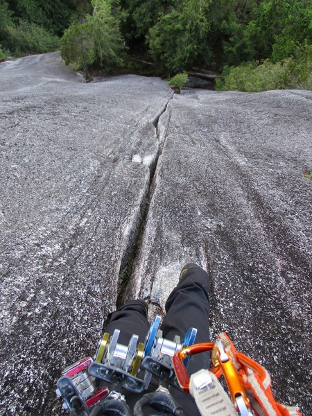 Awesome crack on Pitch 3. Looks wide but it had good hand jams the whole way.