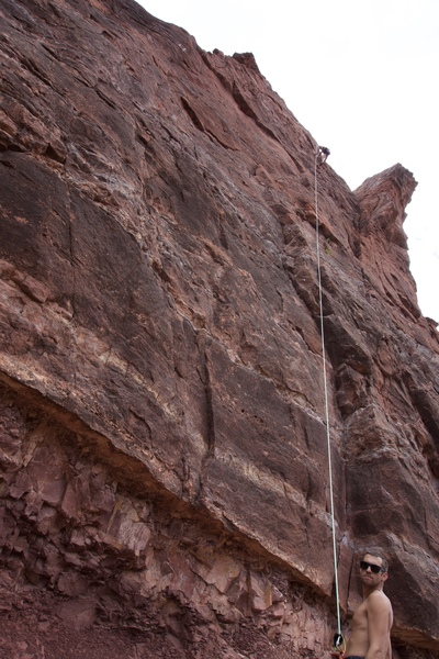 Rock Climbing Photo: Adventures in Babysitting on Top Rope. Shane near ...