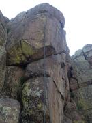 Rock Climbing Photo: A rope on the climb.