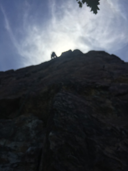 My brother Matt Bennett Climbing Dry Socket
