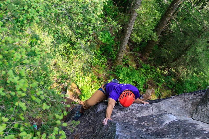 Rock Climbing Photo: High on Seams Alright