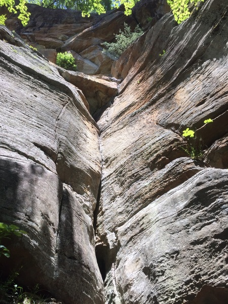 Rock Climbing Photo: Lower crack is much shallower than you'd expect