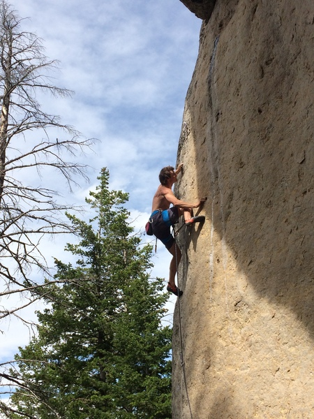 Zach on the better pockets halfway up. Clean stone!