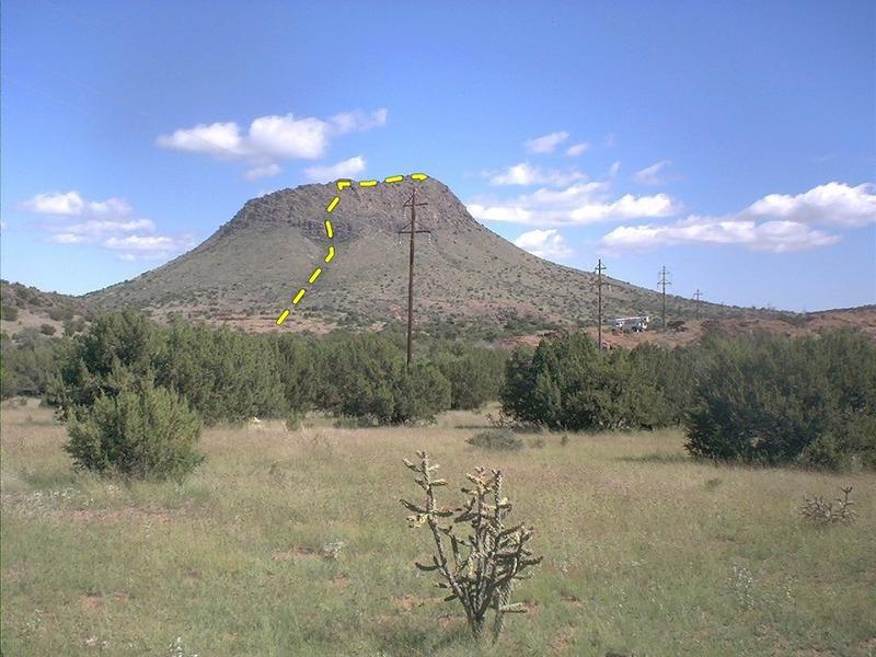 Paisano Peak from the road