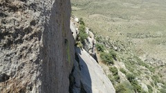 Rock Climbing Photo: Looking right from pitch one belay at the traversi...