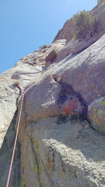 Rock Climbing Photo: Looking up at the wide-angled dihedral on Pitch Tw...