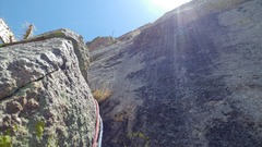 Rock Climbing Photo: Looking up from Pitch One belay.
