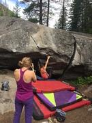 Rock Climbing Photo: Nina on Sitting Bull.