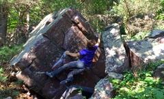 Rock Climbing Photo: throwing to the lip.
