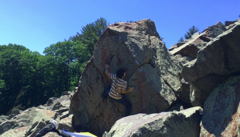 Rock Climbing Photo: In the middle