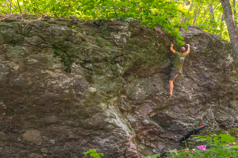 This top-out will leave you Lonesome, Onry, & Mean haha Awesome problem on an even more awesome boulder...go check it out!!!