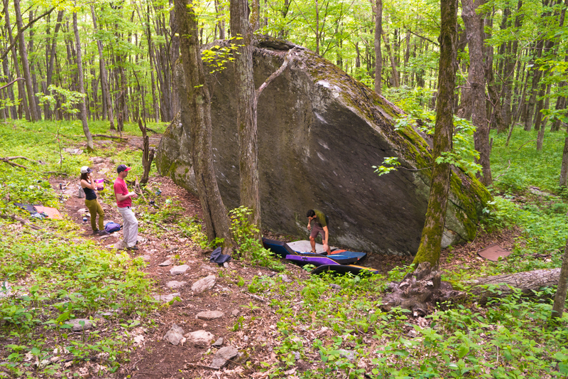 Good view of the first boulder you run up to in the Luminary Area...the Equinox Boulder
