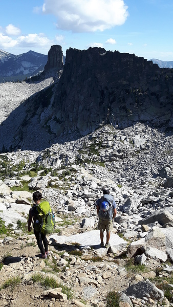 Rock Climbing Photo: The approach from the West.