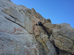 Rock Climbing Photo: Start of roped climbing to link p1-2 (per supertop...
