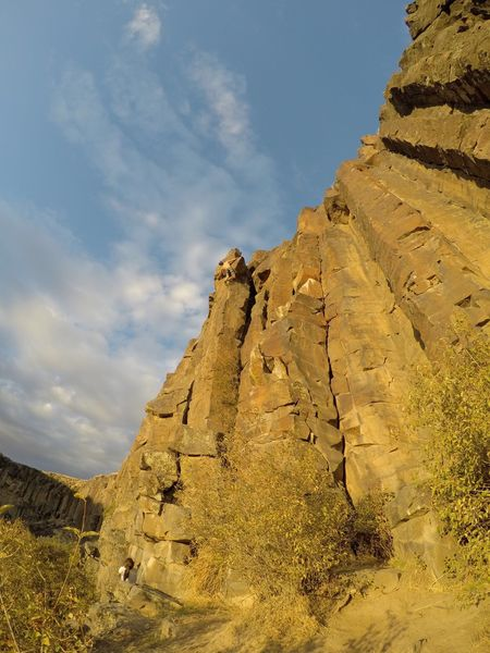 Rock Climbing Photo: Just past (what I take to be) the crux move.